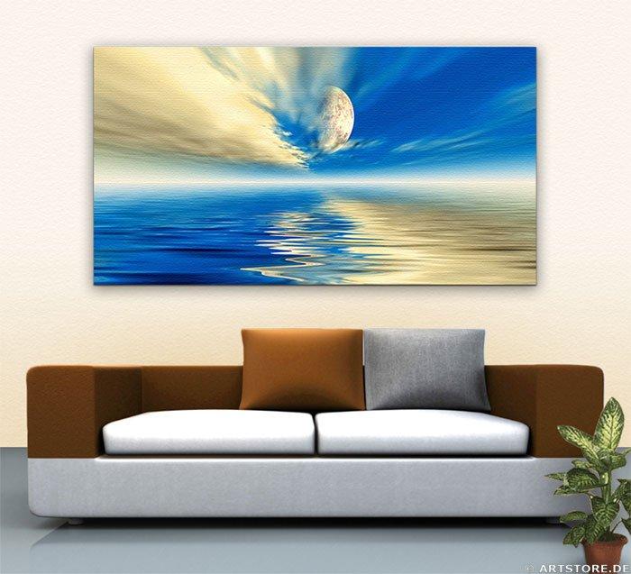 Wandbild Jack Dyrell DARK BLUE Wohnbeispiel