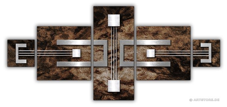 wandbilder jack dyrell silber elemente kunstdrucke leinwand keilrahmen. Black Bedroom Furniture Sets. Home Design Ideas