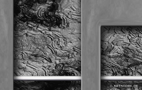 Wandbild Jack Dyrell SILBER METALL Detailausschnitt