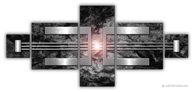 Wandbild Jack Dyrell SILBER REFLEKTION