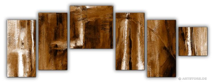 Wandbild Jack Dyrell COGNAC ABSTRAKT IN BRAUN