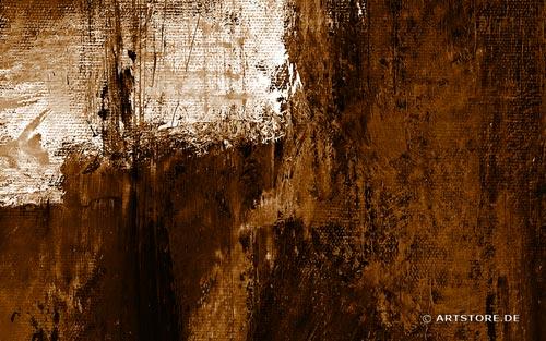 Wandbild Jack Dyrell COGNAC ABSTRAKT IN BRAUN Detailausschnitt