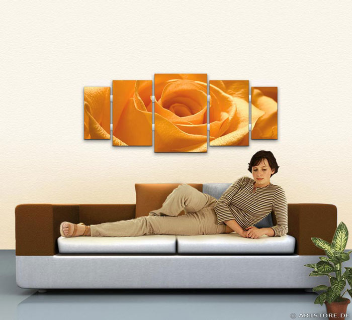 Wandbild Jack Dyrell ORANGE ROSE EDITION Wohnbeispiel