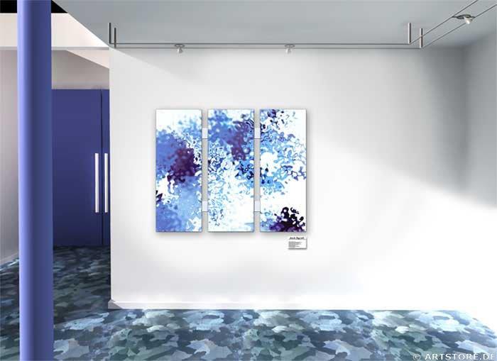 Wandbild Jack Dyrell LIQUID SILVER Wohnbeispiel
