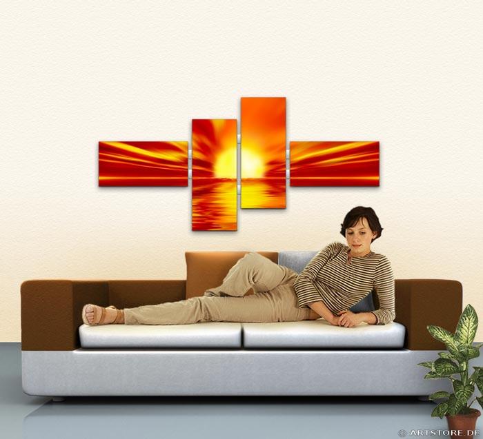 Wandbild Jack Dyrell RED SUNSET Wohnbeispiel