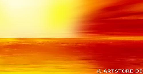 Wandbild Jack Dyrell RED SUNSET Detailausschnitt