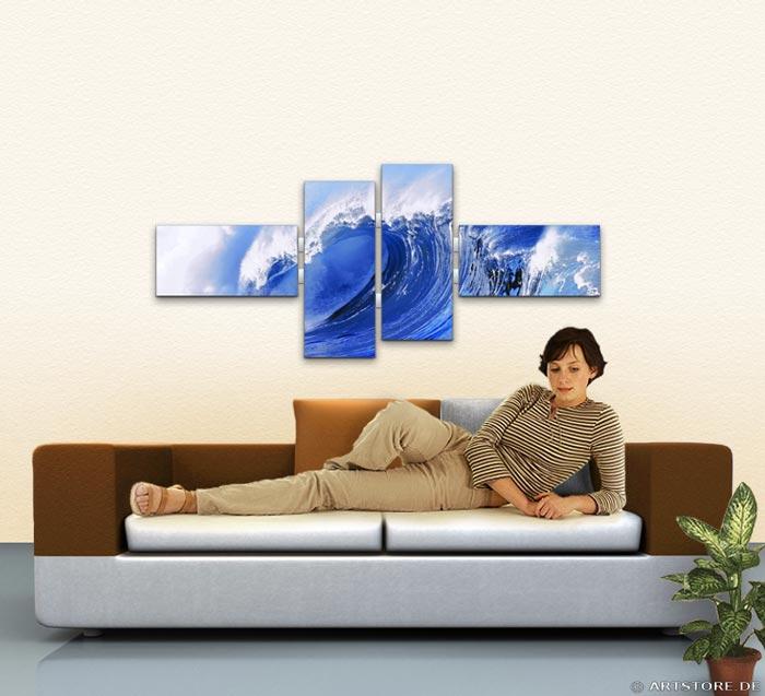 Wandbild Jack Dyrell WELLE - HAWAII Wohnbeispiel