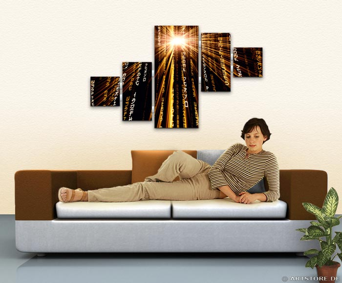 Wandbild Jack Dyrell POWER MATRIX EDITION A Wohnbeispiel