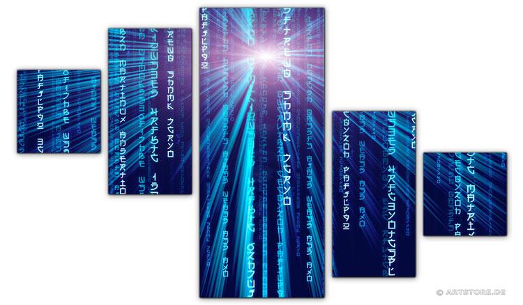Wandbild Jack Dyrell BLUE MATRIX EDITION B