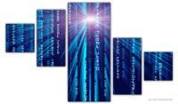 Wandbilder Jack Dyrell BLUE MATRIX EDITION B