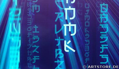 Wandbild Jack Dyrell BLUE MATRIX EDITION B Detailausschnitt