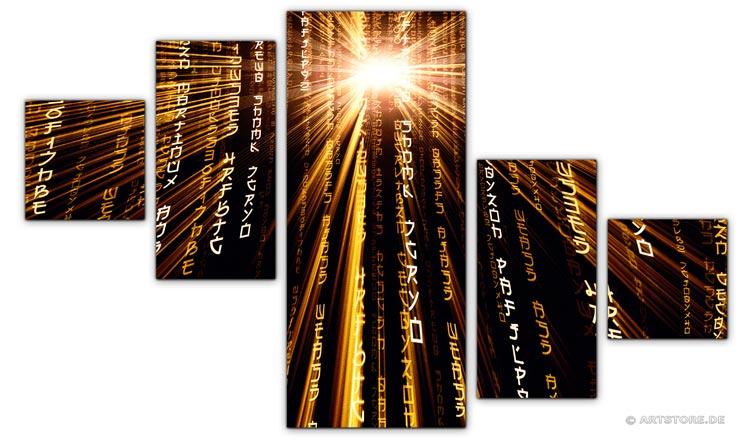 Wandbild Jack Dyrell POWER MATRIX EDITION B