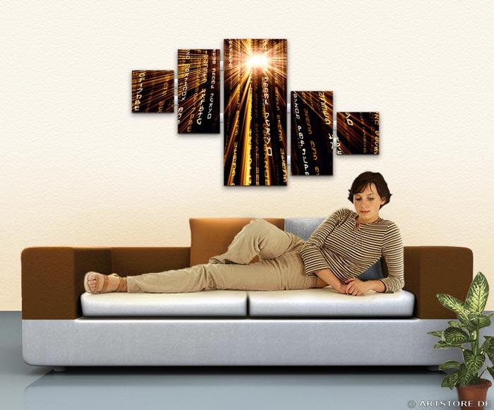 Wandbild Jack Dyrell POWER MATRIX EDITION B Wohnbeispiel