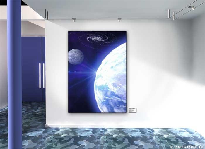 Wandbild Jack Dyrell BLUE PLANET 2 Wohnbeispiel