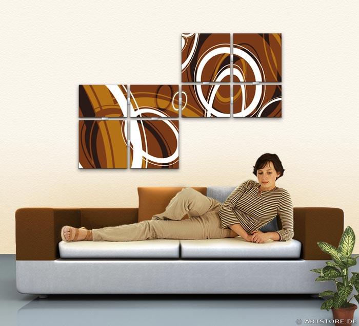 Wandbild Jack Dyrell RETRO STYLE BRAUN - A Wohnbeispiel