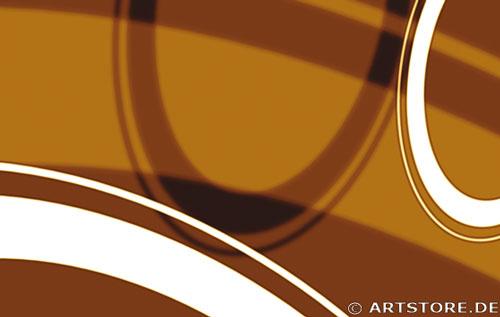Wandbild Jack Dyrell RETRO STYLE BRAUN - A Detailausschnitt