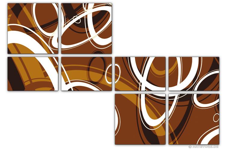 Wandbild Jack Dyrell RETRO STYLE BRAUN - B
