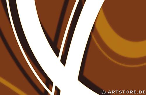 Wandbild Jack Dyrell RETRO STYLE BRAUN - B Detailausschnitt