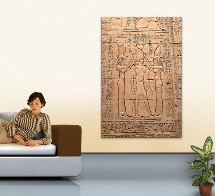 Wandbild Jack Dyrell EGYPT GOLD Wohnbeispiel