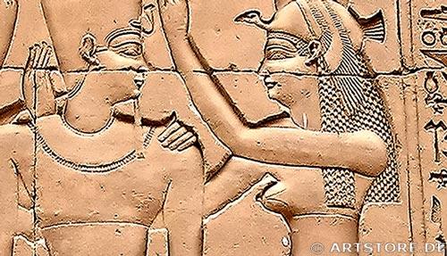 Wandbild Jack Dyrell EGYPT GOLD Detailausschnitt