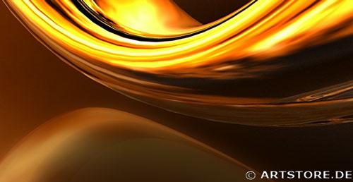 Wandbild Jack Dyrell NEVER ENDING GOLD Detailausschnitt