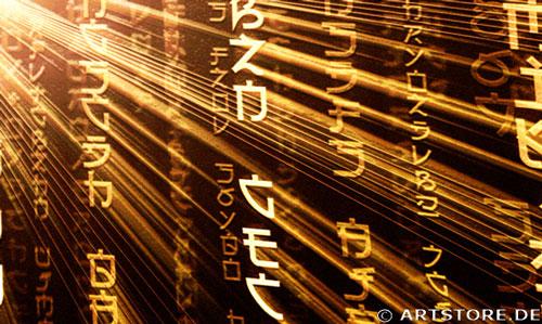Wandbild Jack Dyrell POWER MATRIX Detailausschnitt