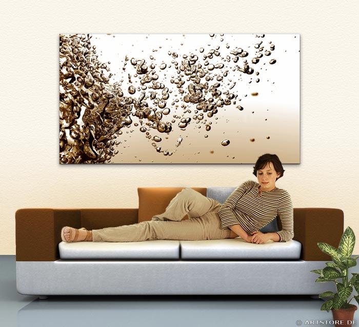 Wandbild Jack Dyrell LIQUID SPLASH Wohnbeispiel