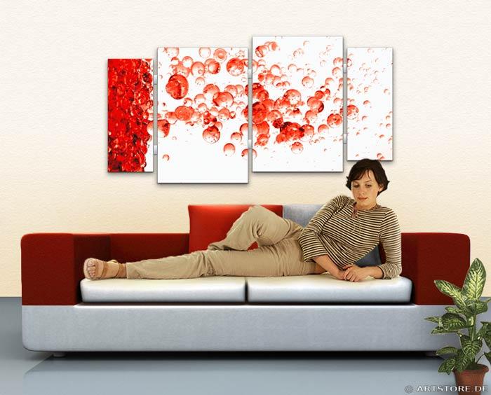 Wandbild Jack Dyrell RED DROPS EDITION Wohnbeispiel