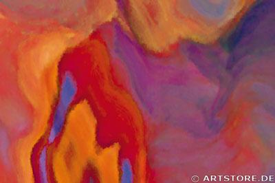 Wandbild Jack Dyrell EARTH STRUCTURE Detailausschnitt
