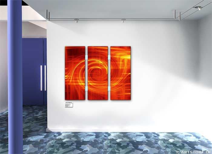 Wandbild Jack Dyrell LIGHT ROTATION Wohnbeispiel