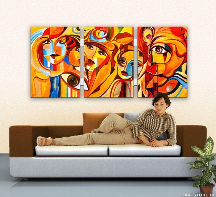 Wandbild Mia Morro 1000 FACES Wohnbeispiel