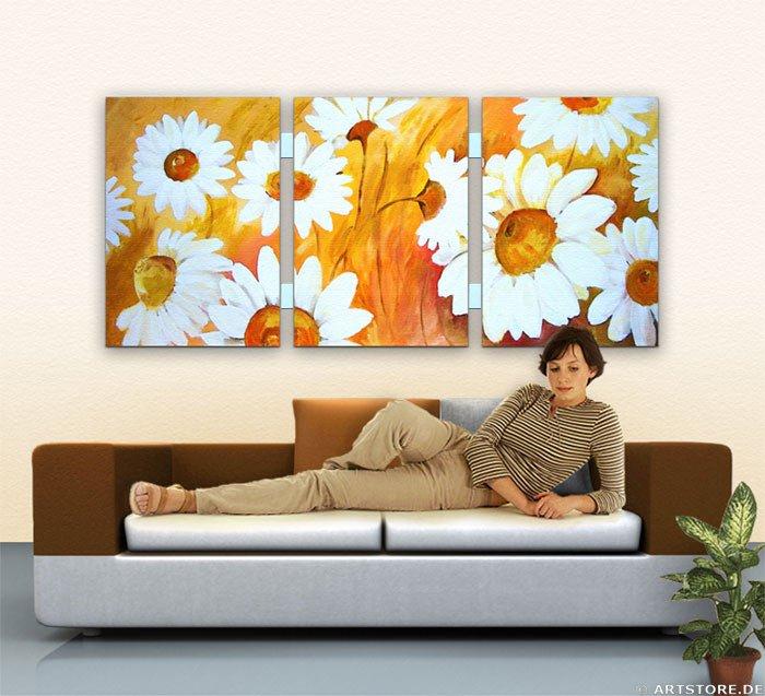Wandbild Mia Morro BEAUTIFUL FLOWERS Wohnbeispiel
