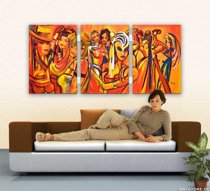 Wandbild Mia Morro BEAUTYs Wohnbeispiel