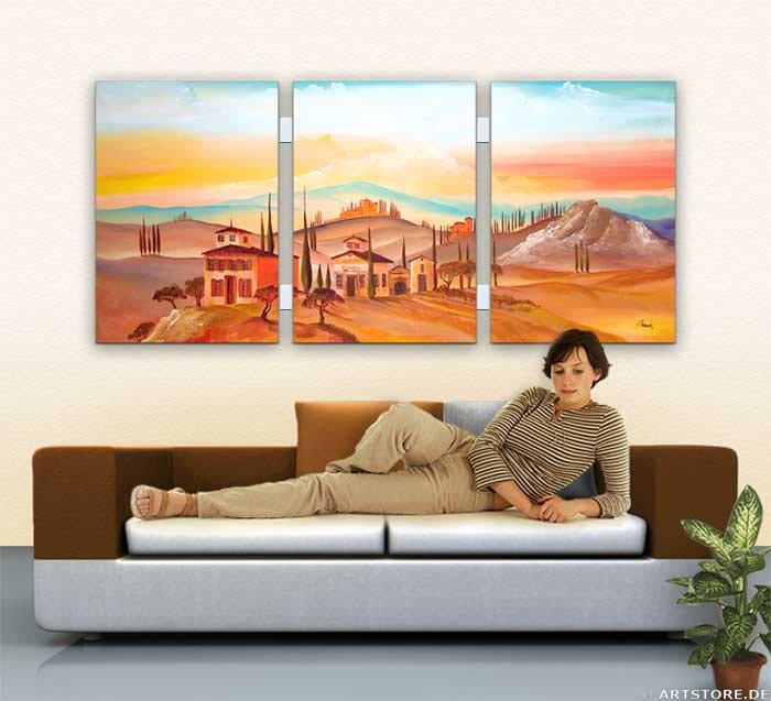 Wandbild Mia Morro MEDITERRAN Wohnbeispiel