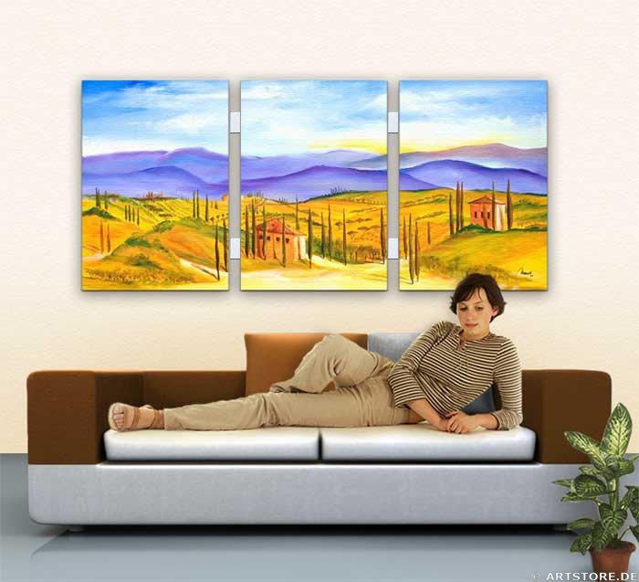 Wandbild Mia Morro TUSCANY COLORS Wohnbeispiel