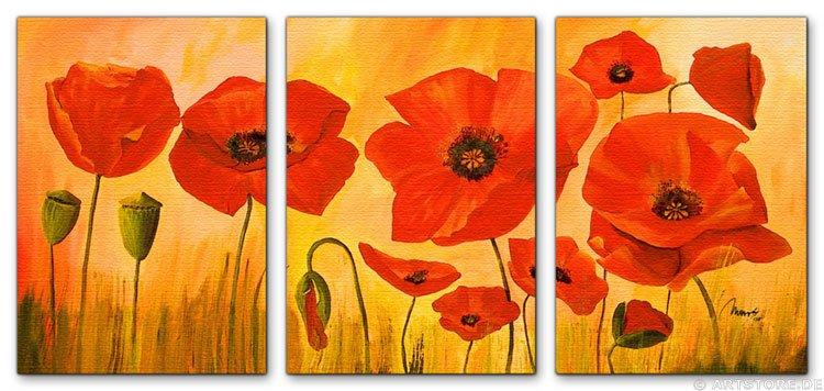 Wandbild Mia Morro POPPY FLOWERS