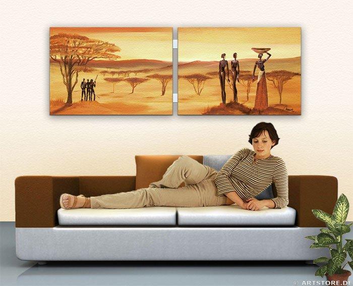 Wandbild Mia Morro MASSAI MY LIVE Wohnbeispiel