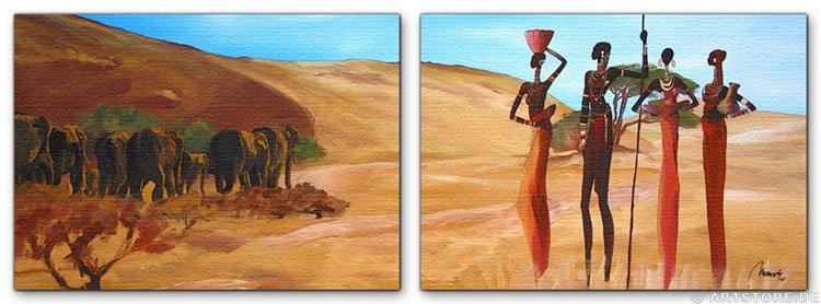 Wandbild Mia Morro MASSAI - AFRIKA
