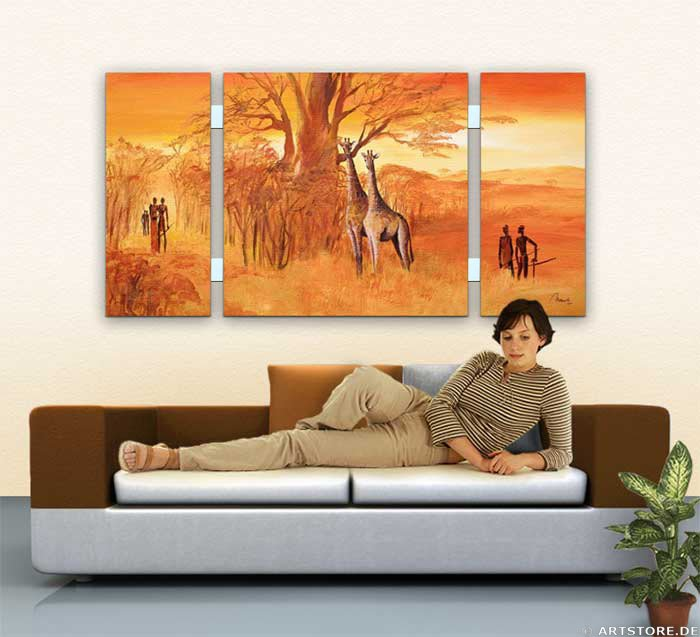 Wandbild Mia Morro LUCKY MASSAI - EDITION Wohnbeispiel