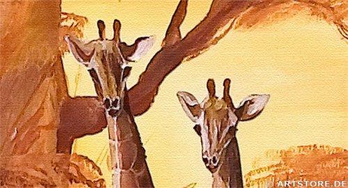 Wandbild Mia Morro LUCKY MASSAI - EDITION Detailausschnitt