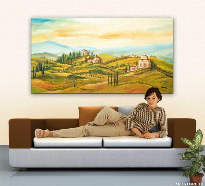 Wandbild Mia Morro ITALIEN VIEW Wohnbeispiel