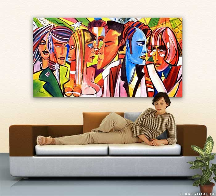 Wandbild Mia Morro MEETING STARS Wohnbeispiel