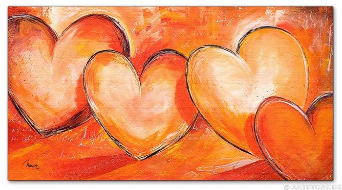 Wandbild Mia Morro LOVELY HEARTS