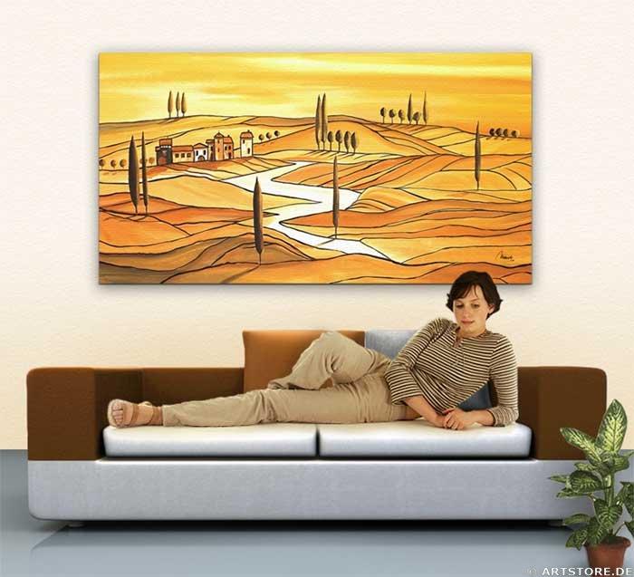 Wandbild Mia Morro TUSCANY ITALY Wohnbeispiel
