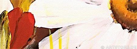 Wandbild Mia Morro GREAT FLOWER FIELD Detailausschnitt