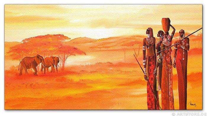 Wandbild Mia Morro AFRICAN LIVE