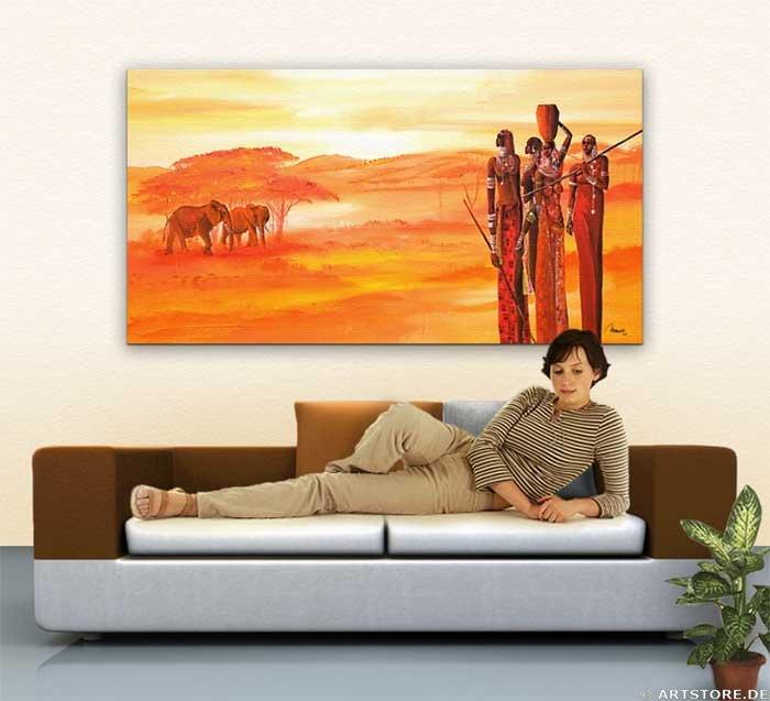 Wandbild Mia Morro AFRICAN LIVE Wohnbeispiel