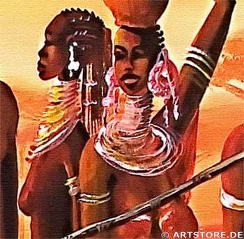 Wandbild Mia Morro AFRICAN LIVE Detailausschnitt