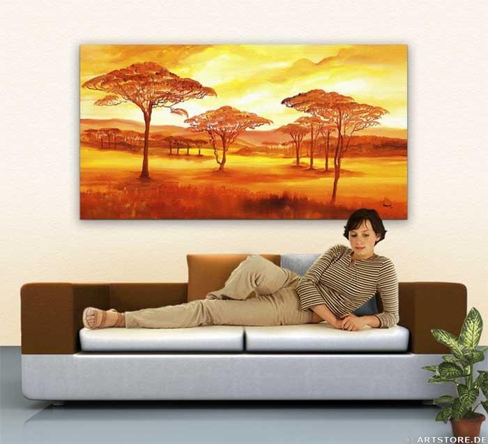 Wandbild Mia Morro AFRICAN SUMMER Wohnbeispiel