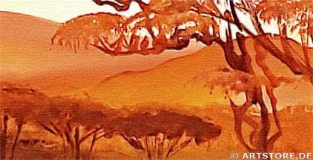 Wandbild Mia Morro AFRICAN SUMMER Detailausschnitt